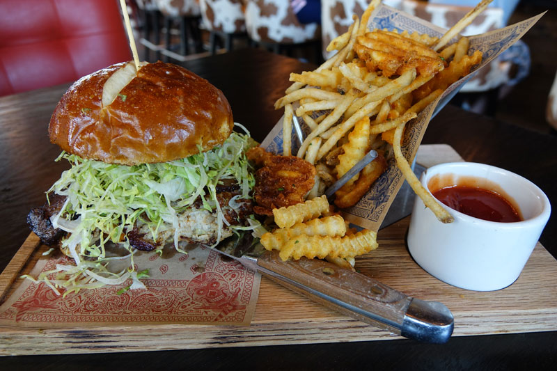 Turkey Burger at Guy Fieri's