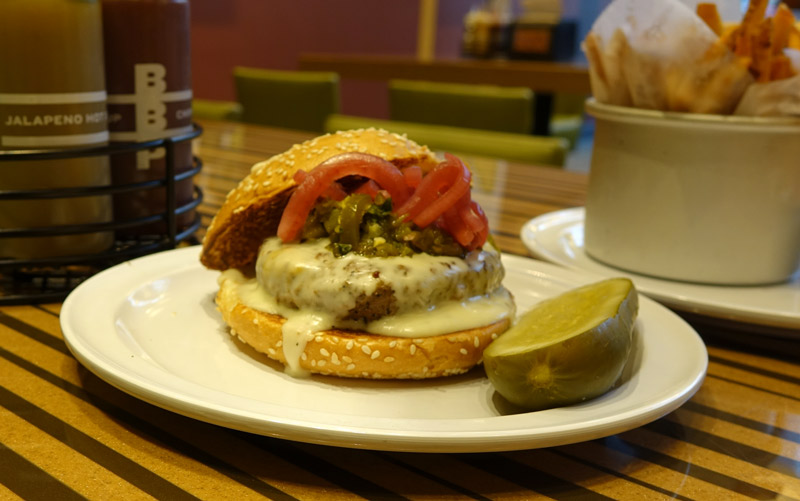 New Mexico Burger at Bobby's Burger Palace