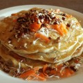 Vegan Carrot Coconut Pancakes at MTO Cafe